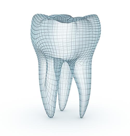 Grafisk fremstilling av frisk tann