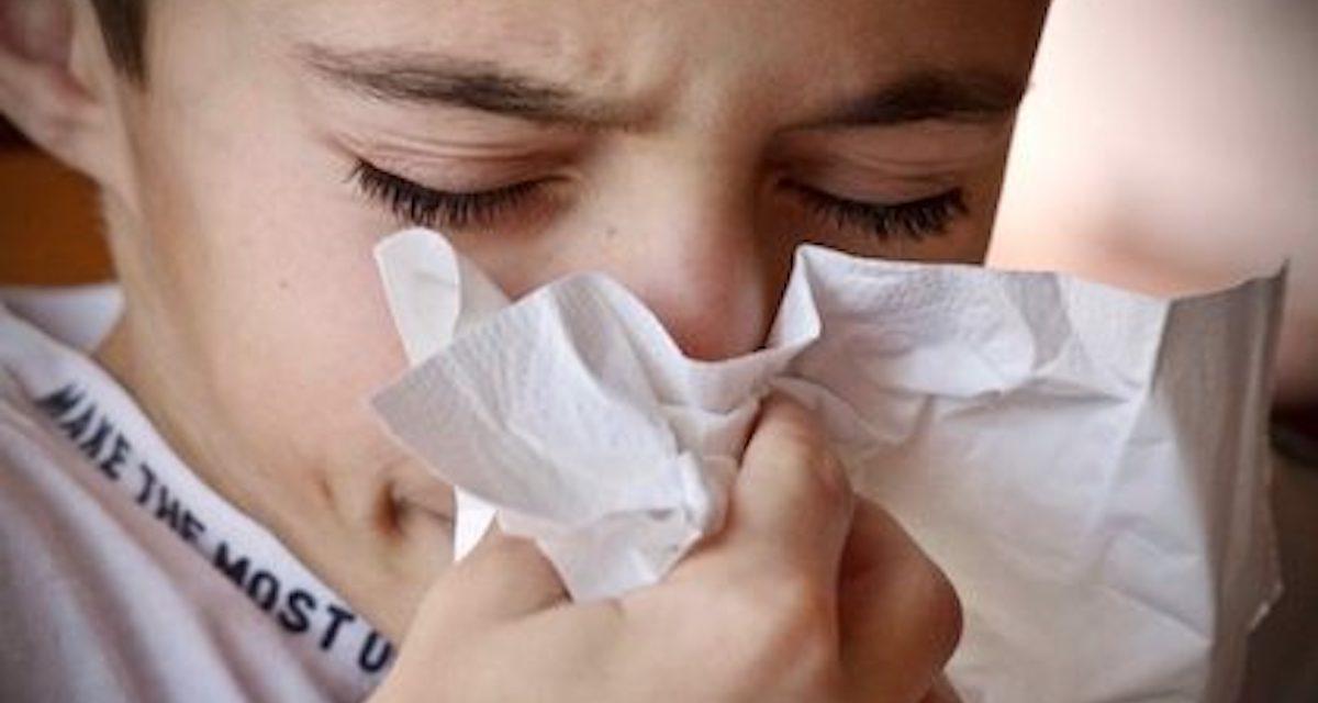 Barn med influensa